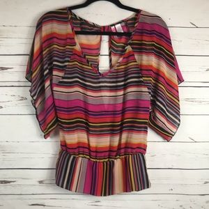 Multi Color Striped Top Size S